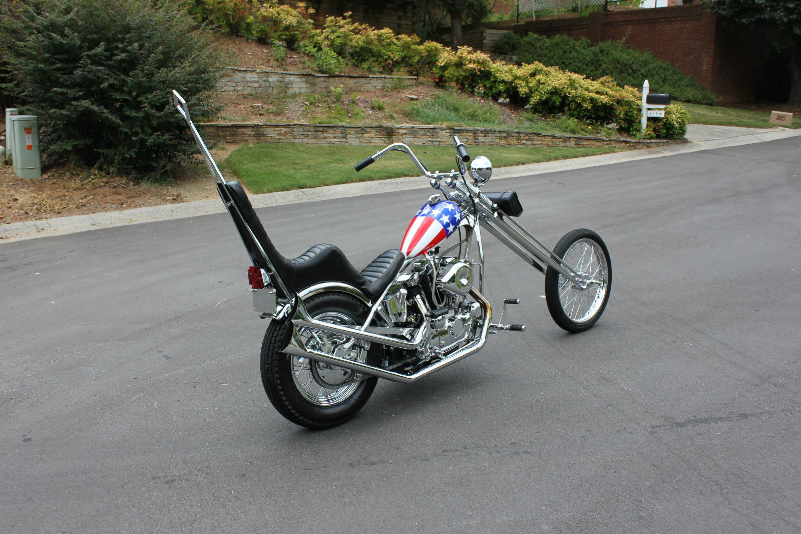 1980 harley davidson captain america theme chopper for sale. Black Bedroom Furniture Sets. Home Design Ideas