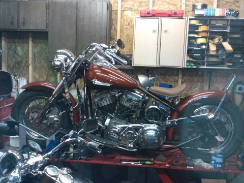 1953 Harley Panhead Bobber Beautiful Custom for sale