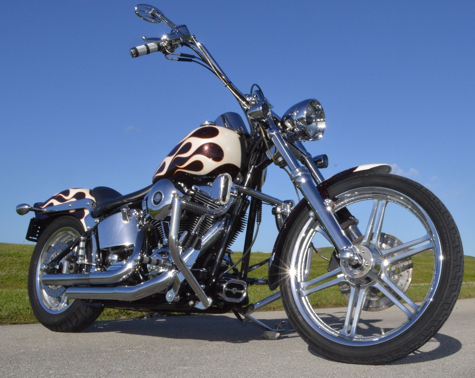 2003 thunder mountain softail chopper gunnison harley. Black Bedroom Furniture Sets. Home Design Ideas