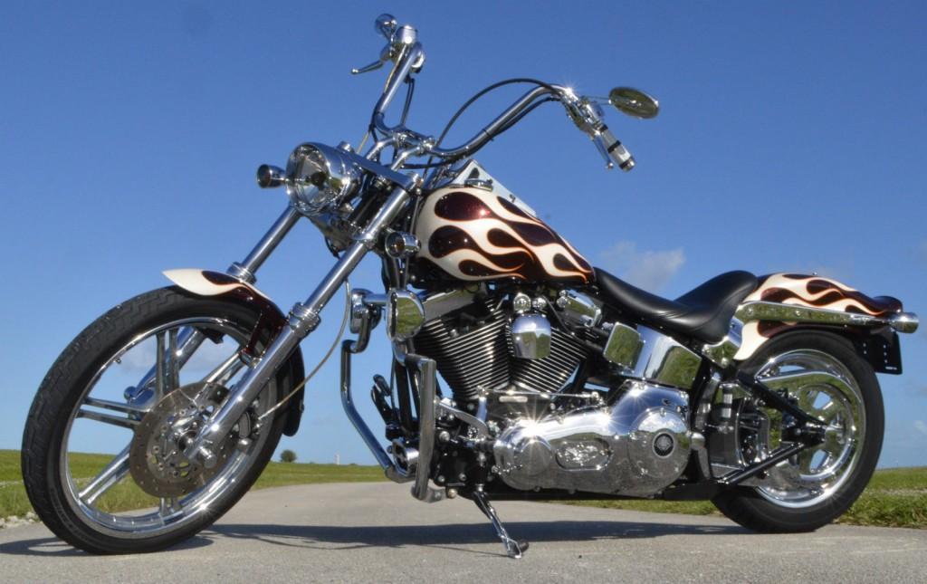 White Tire Paint >> 2003 Thunder Mountain Softail Chopper Gunnison Harley Davidson for sale
