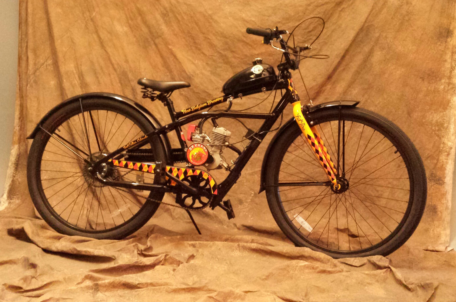 2013 Collectable Fat Tire Bicycle W/motor kit for sale