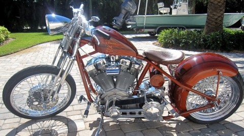 Custom Bobber 2008 Jack Daniels Theme Chopper for sale