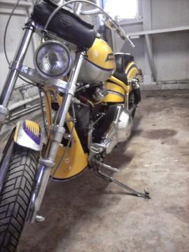 1999 Yellow Custom Harley, FXR Frame, soft tail Look for sale