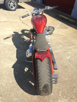 1990 Custom Chopper, 113 S&S, Ground Pounder Exhaust, 3″ Stretch, 200 Avon Rear Tire for sale
