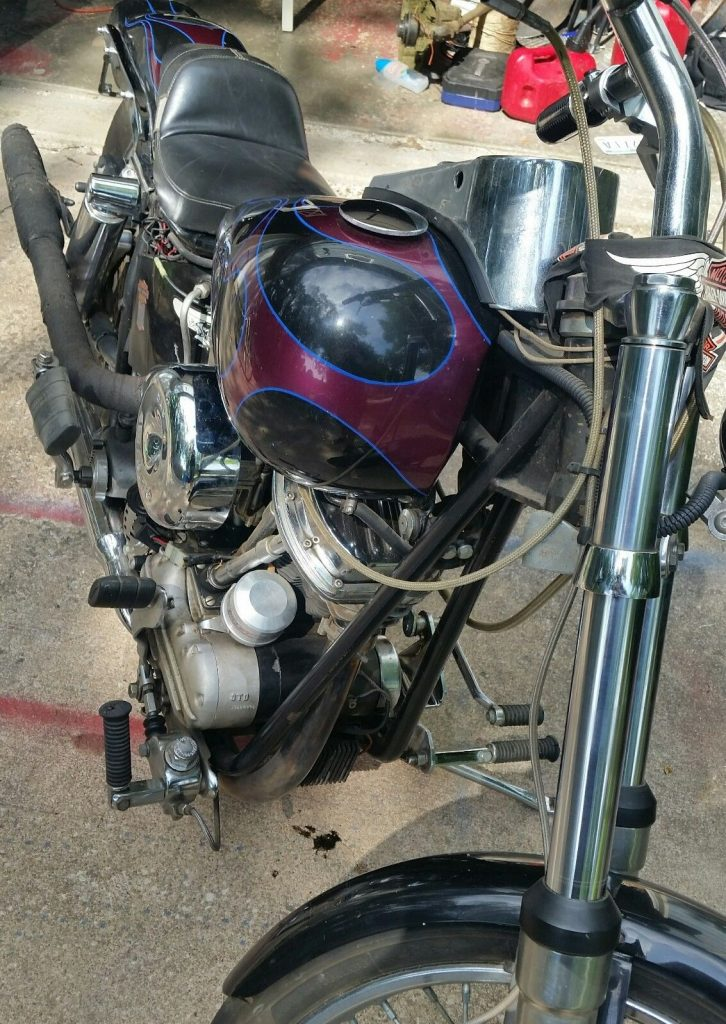 2001 Custom Built Kickstart Motorcycle with Duel Tanks, SS Carb, Vintage and new parts